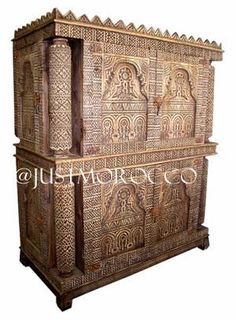 Carved armoire, primitive furniture carved armoire, african armoire, touareg tribal armoire