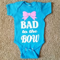 Bad to the Bow - Girls Onesie - Body Suit - Glitter - Onesie - Ruffles – Ruffles with Love