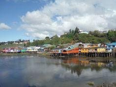 Palafitos (stilt houses) in Castro