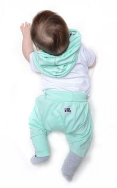 mini mini MiĘta - PiErWsZe pOrTki - MINI MINI - Spodnie dla niemowląt w Lamama