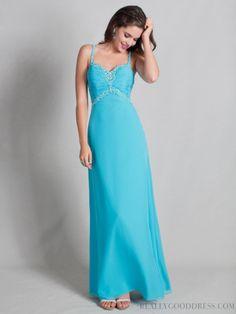 2013 Shinning A-line Straps Sleeveless Chiffon Bridesmaid Dresses