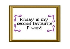 F Word Funny TGIF Quote Cross Stitch Pattern by RatherUnseamly, £2.00 by vile♥