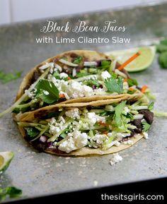 Black Bean Tacos wit