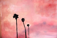 Palm tree painting #1, Emily Faulstich.