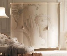 Getting Proper Wardrobe Design to Make One on Your Bedroom: Fascinating Cream Wall And Luxury Wardrobe Design With Image In Magnificent Bedroom Interior Ideas ~ workdon.com Furniture Inspiration