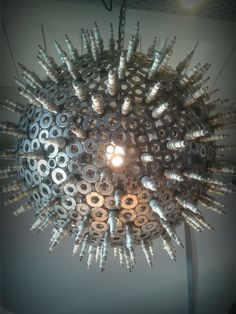 Really Cool Light. Made With Spark Plugs!