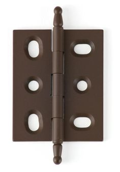 BH2A-OA steeple-tip mortised cabinet hinge in Old Antique (oil-rubbed bronze)