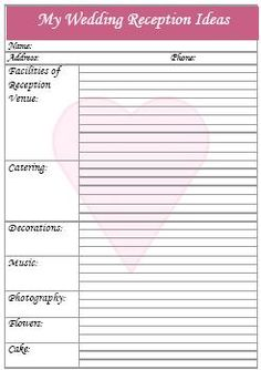 Wedding Reception DJ Checklist | Reception Music Checklist | Peach ...