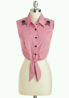 From ModCloth. Bought it! Barn to Run top.