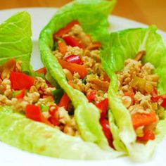 Low Sodium Asian Style Lettuce Wraps with Chicken means fresh veggies from the garden onto your plate! It made perfect sense to post something that includes fresh lettuce with some protein in it. Let me introduce to you easy to make and low on sodium lettuce wraps made with ground chicken!