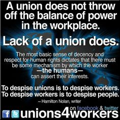 Unions - lack of fair, uncorrupted unions is also unfair to workers