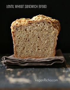 Lentil Wheat Sandwich Bread and Bean Stew Sandwiches. Vegan Recipe - Vegan Richa