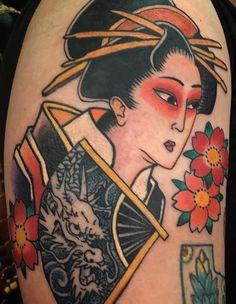 geisha by hirokitattoo