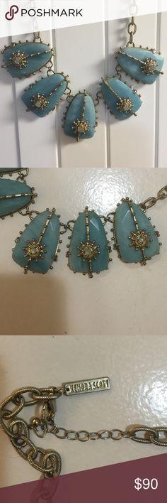 Kendra Scott Greta necklace Love this beautiful Rare Kendra Scott Greta necklace in Aqua. Kendra Scott Jewelry Necklaces