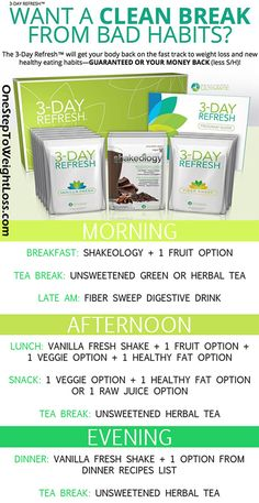 The Beachbody 3 Day Refresh means results! Weight Loss. Improved Digestion. More Energy. Better Health. Lear more here: http://www.onesteptoweightloss.com/beachbody-3-day-refresh-cleanse
