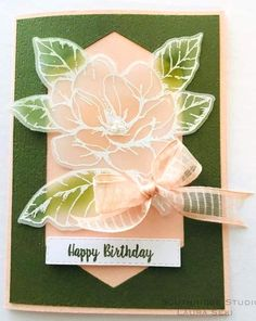 Handmade Birthday Cards, Greeting Cards Handmade, Card Making Inspiration, Making Ideas, Stampin Up Catalog, Embossed Cards, Stamping Up Cards, Paper Cards, Flower Cards
