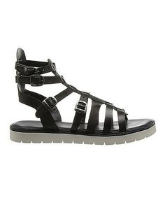Look at this #zulilyfind! Black Bonita Leather Sandal by Rebels Footwear #zulilyfinds