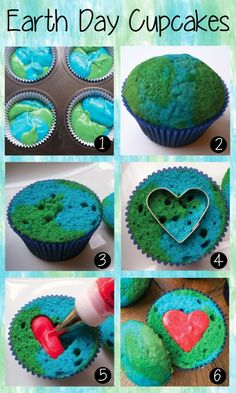 Anleitung World Earth Day Cupcakes