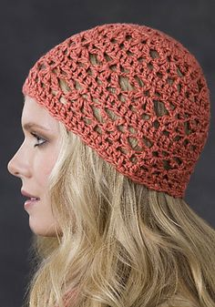 Free Crochet Brigham One Skein Hat Pattern.