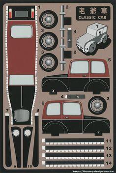 Classic Car - Cut Out Postcard   Flickr: Intercambio de fotos