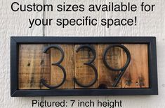 Rustic House Numbers Farmhouse Address Sign Modern House | Etsy