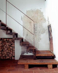 Staircase Detail, Casa in Valsassina / Arbau Studio