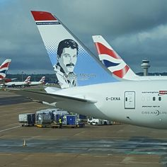 Norwegian Air with Freddie on the Tail Fin Norwegian Airlines, Mr Fahrenheit, Queen Art, Somebody To Love, Queen Freddie Mercury, Brian May, Killer Queen, Rock Legends, Keanu Reeves