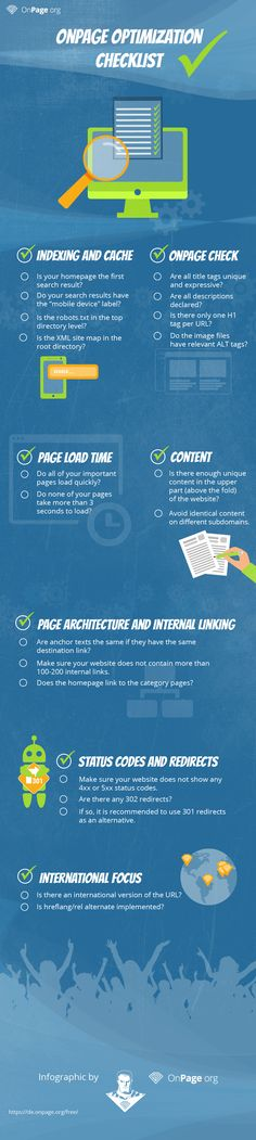 Infografik: OnPage-Optimierung Checkliste