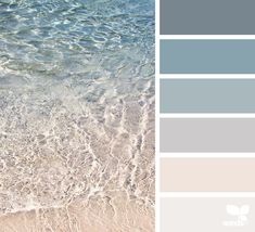 crystal clear | for all who ♥ color Beach Colour scheme More
