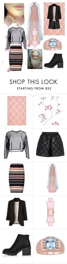 """Modern Pink"" by beanpod ❤ liked on Polyvore featuring nuLOOM, Yves Saint Laurent, STELLA McCARTNEY, Miss Selfridge, Marchesa, Kate Spade, River Island, MANGO and modern"