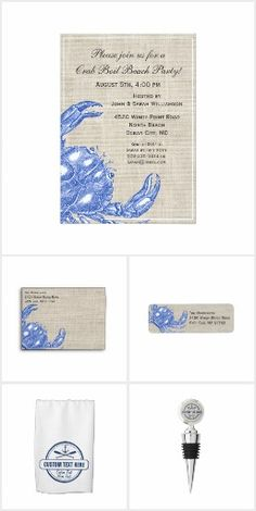 Beach House gifts, invitations and decor