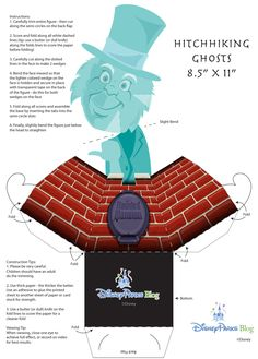 Create your own printable Haunted Mansion Hitchhiking Ghosts with optical illusion