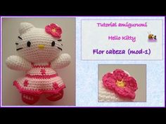 Tutorial amigurumi Hello Kitty - Lazo (mod-1) - YouTube