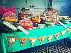 Birthday nibbles for an Under the Sea party