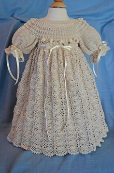 Truly unique, crafted with ecru colored thread for that very traditonal look. 13888-G $80.00 at CherryHillCrochet.com.
