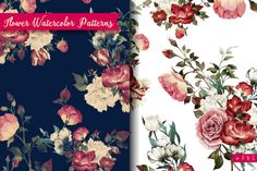 Seamless watercolor patterns by ollalya on Creative Market