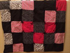 Red and Black Flannel Lap Quilt FINISHED can also by knottygypsy