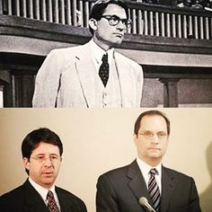 """Lawyers Dean Strang and Jerome Buting are modern day Atticus Finches for the way they defended Steven Avery in """"Making A Murderer"""". Sarah Bennett, Steven Avery, Mister Finch, Making A Murderer, Atticus Finch, Civil Rights, Finches, Literature, Lawyers"""