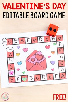 Editable Valentine's Day Board Game Valentines Games, Valentine Theme, Valentines Day Activities, Valentine Crafts, Preschool Board Games, Kindergarten Activities, Preschool Projects, Preschool Class, Valentine's Day Letter