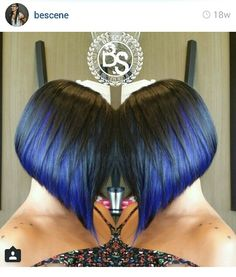 Blue Asymmetrical Bob