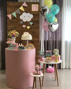Which Party 🤩از بین یک تا ده کدوم تم جشن. Unicorn Birthday Parties, Baby Birthday, Birthday Party Themes, Birthday Table Decorations, Girls Party Decorations, Beautiful Baby Shower, Donut Party, Baby Shower Parties, July Crafts