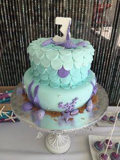Little Mermaid Birthday Cake by Iris Ortiz