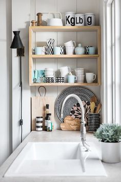 Pastels and pattern in the kitchen!