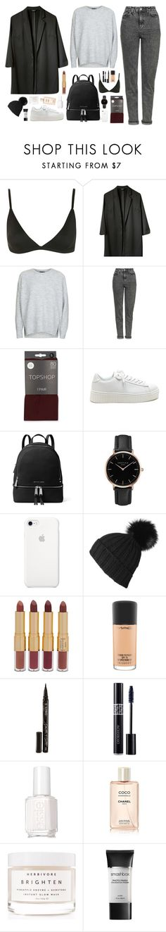 """""""Classic Minimal Topshop"""" by thestylecloset1 ❤ liked on Polyvore featuring Topshop, MICHAEL Michael Kors, Black, tarte, MAC Cosmetics, Smith & Cult, Christian Dior, Essie, Chanel and Herbivore"""