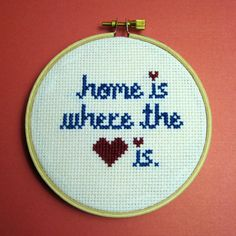 home is where the heart is cross stitch for $24.94