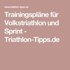 Trainingspläne für Volkstriathlon und Sprint - Triathlon-Tipps.de