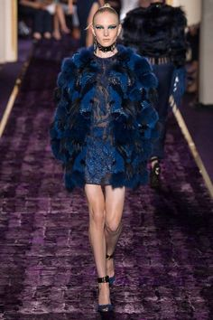 Atelier Versace | Fall 2014 Couture Collection | Style.com.                 ~             ONLY IF ~» FAUX FUR ‼️‼️‼️➕‼️
