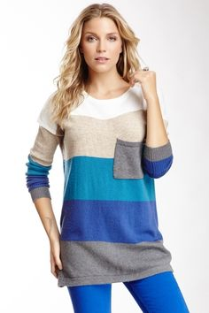 Oversized Multicolor Stripe Sweater from HauteLook on shop.CatalogSpree.com, your personal digital mall.