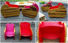 Kids Armchairs in the Garden / Fauteuil d'extérieur pour enfants #Armchair, #Furniture, #Garden, #Kids
