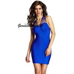Celebrity style bodycon/bandage blue dress XS/X/M/L / Geminiclothing90